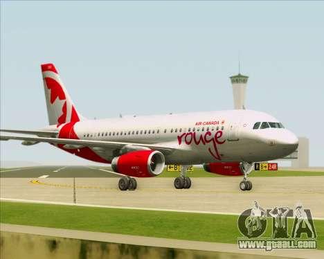 Airbus A319 Air Canada Rouge for GTA San Andreas wheels