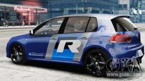 Volkswagen Golf R 2010 ABT Paintjob for GTA 4 left view
