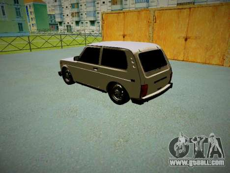 VAZ 2121 for GTA San Andreas back left view