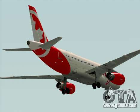 Airbus A319 Air Canada Rouge for GTA San Andreas right view