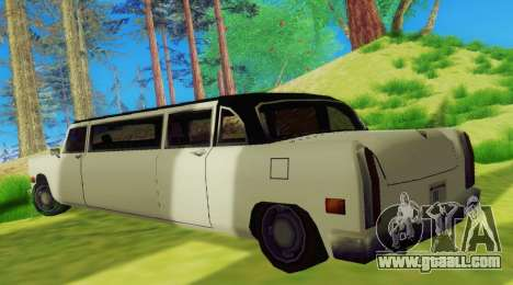 Cabbie Limousine for GTA San Andreas right view