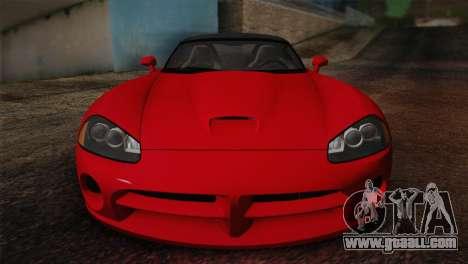 Dodge Viper SRT-10 2003 for GTA San Andreas back view