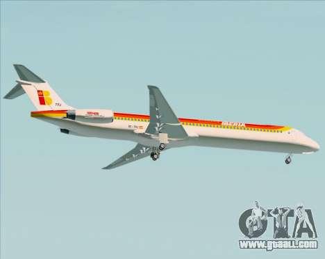 McDonnell Douglas MD-82 Iberia for GTA San Andreas right view