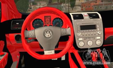 Volkswagen Golf 5 for GTA San Andreas back left view