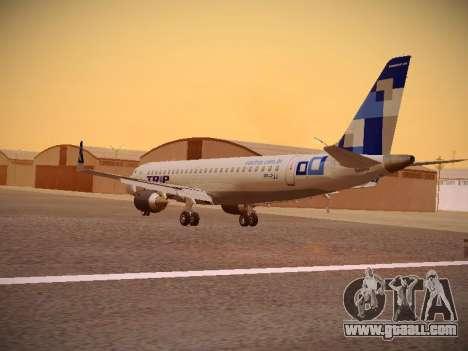 Embraer E190 TRIP Linhas Aereas Brasileira for GTA San Andreas back left view