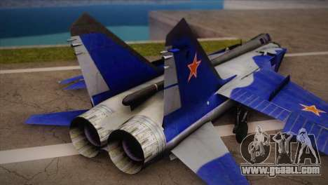 MIG-31 from H.A.W.X. for GTA San Andreas left view