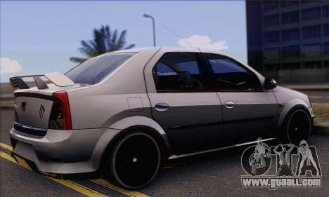Dacia Logan Hoonigan Edition for GTA San Andreas left view