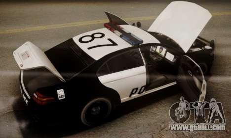 Vapid Police Interceptor from GTA V for GTA San Andreas engine