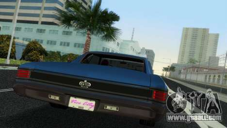 Chevrolet Chevelle SS 1967 for GTA Vice City inner view