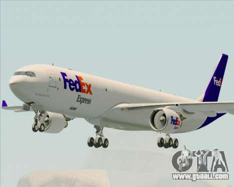 Airbus A330-300P2F Federal Express for GTA San Andreas