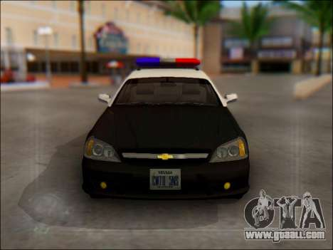 Chevrolet Evanda Police for GTA San Andreas upper view