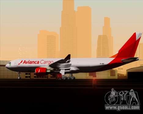 Airbus A330-243F Avianca Cargo for GTA San Andreas interior