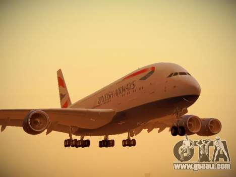 Airbus A380-800 British Airways for GTA San Andreas left view
