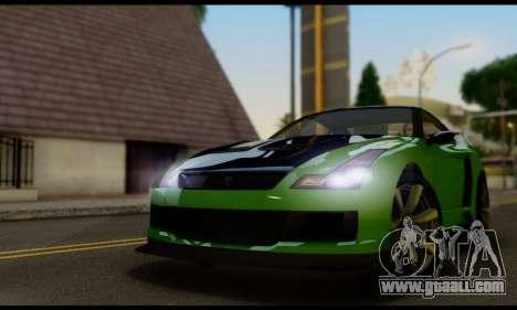 GTA V Elegy RH8 Twin-Turbo (IVF) for GTA San Andreas back left view