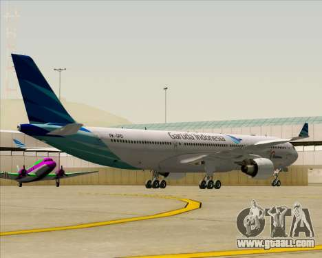 Airbus A330-300 Garuda Indonesia for GTA San Andreas side view