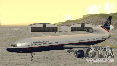 Lockheed L1011 Tristar British Airways for GTA San Andreas