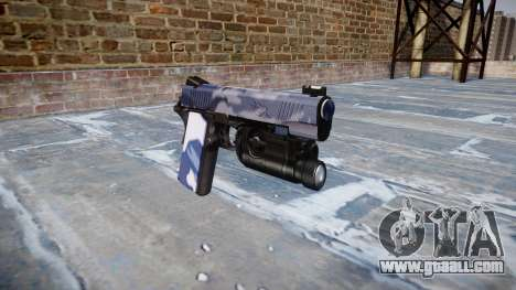 Gun Kimber 1911 Blue Tiger for GTA 4