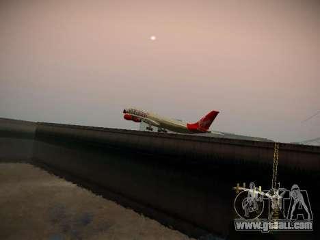 Airbus A340-300 Virgin Atlantic for GTA San Andreas upper view