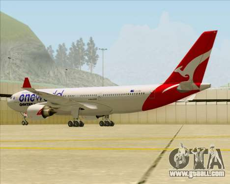 Airbus A330-200 Qantas Oneworld Livery for GTA San Andreas interior