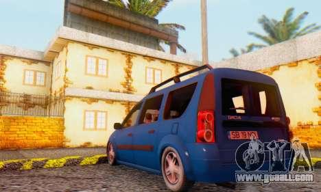 Dacia Logan MCV for GTA San Andreas right view