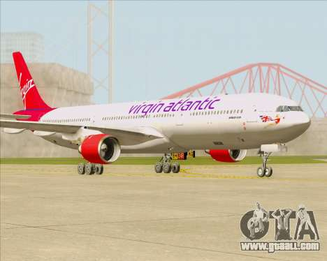 Airbus A330-300 Virgin Atlantic Airways for GTA San Andreas left view