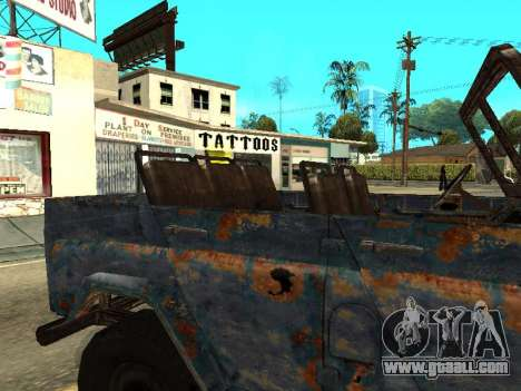 Police UAZ from Stalker for GTA San Andreas back view