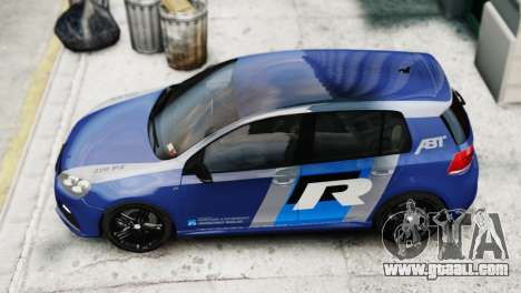 Volkswagen Golf R 2010 ABT Paintjob for GTA 4 back left view