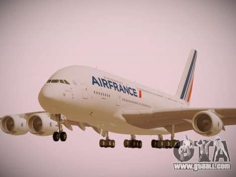 Airbus A380-800 Air France for GTA San Andreas side view