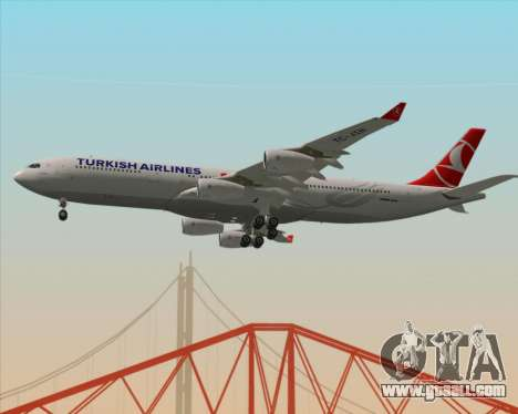 Airbus A340-313 Turkish Airlines for GTA San Andreas inner view