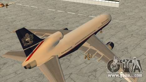 Lockheed L1011 Tristar British Airways for GTA San Andreas left view