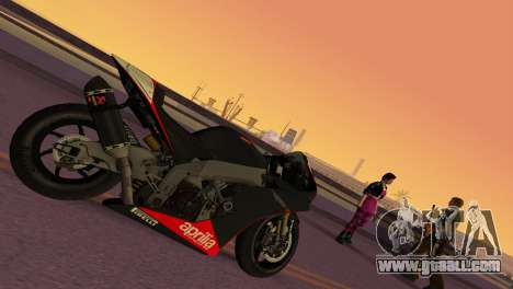 Aprilia RSV4 2009 Edition I for GTA Vice City left view