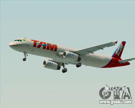 Airbus A321-200 TAM Airlines for GTA San Andreas back view