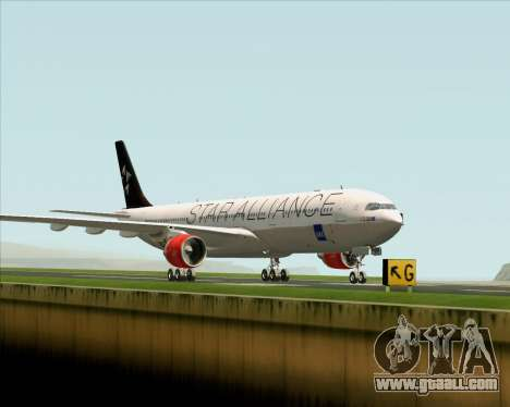 Airbus A330-300 SAS (Star Alliance Livery) for GTA San Andreas back left view