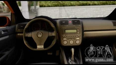 Volkswagen Golf V GTI for GTA San Andreas back left view