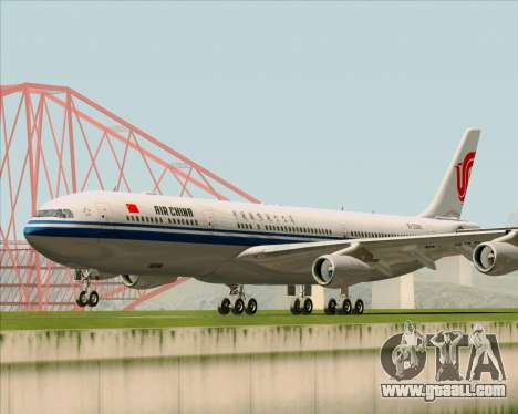 Airbus A340-313 Air China for GTA San Andreas left view
