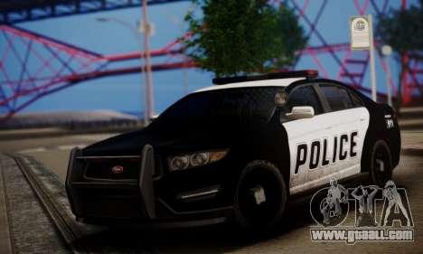 Vapid Police Interceptor from GTA V for GTA San Andreas left view