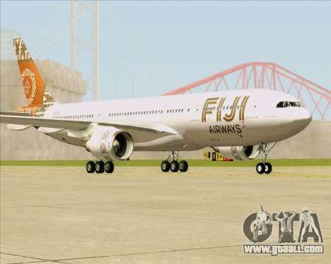 Airbus A330-200 Fiji Airways for GTA San Andreas back left view