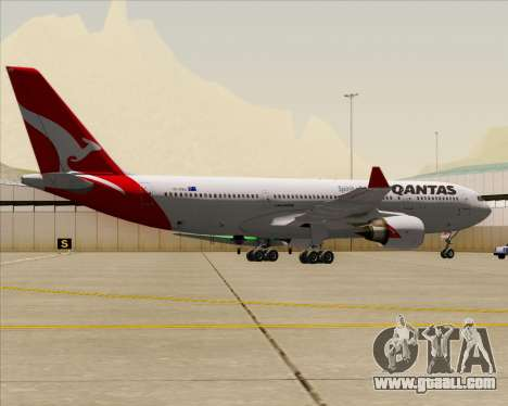 Airbus A330-200 Qantas for GTA San Andreas back view