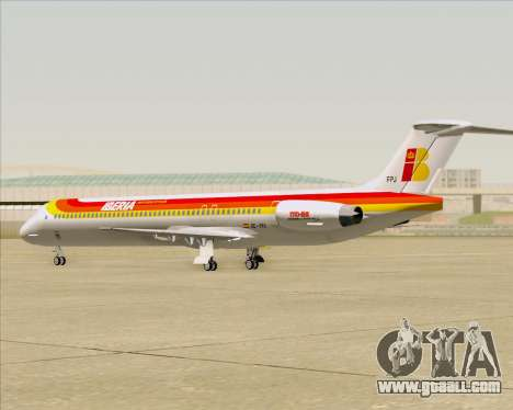 McDonnell Douglas MD-82 Iberia for GTA San Andreas side view