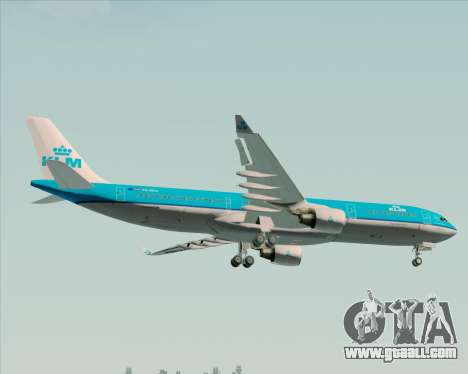 Airbus A330-300 KLM Royal Dutch Airlines for GTA San Andreas wheels