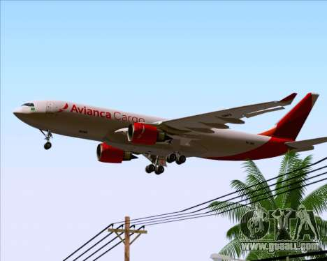Airbus A330-243F Avianca Cargo for GTA San Andreas engine