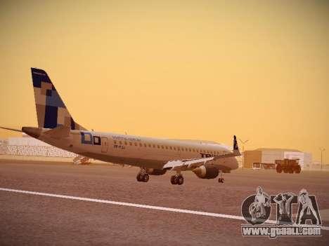 Embraer E190 TRIP Linhas Aereas Brasileira for GTA San Andreas right view