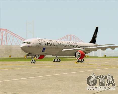 Airbus A330-300 SAS (Star Alliance Livery) for GTA San Andreas left view
