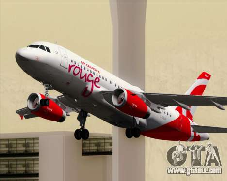 Airbus A319 Air Canada Rouge for GTA San Andreas
