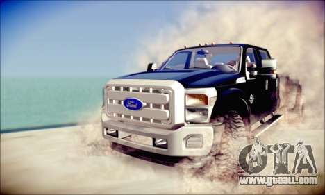 Ford F450 Super Duty 2013 HD for GTA San Andreas left view
