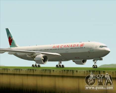 Airbus A330-300 Air Canada for GTA San Andreas back left view