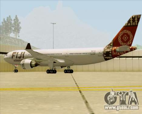 Airbus A330-200 Fiji Airways for GTA San Andreas back view