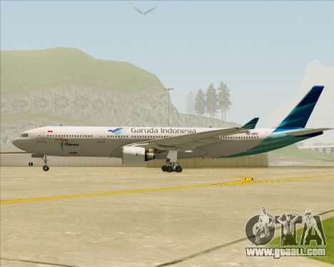 Airbus A330-300 Garuda Indonesia for GTA San Andreas inner view