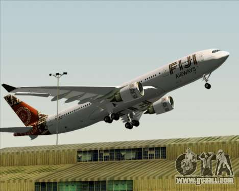 Airbus A330-200 Fiji Airways for GTA San Andreas bottom view