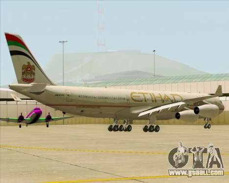 Airbus A340-313 Etihad Airways for GTA San Andreas back view